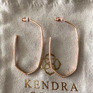 Kendra Scott Danielle Hoop Earrings In Rose Gold